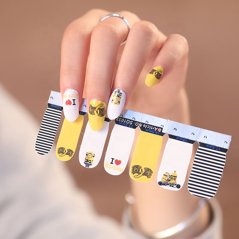 factory nail supplies newest halloween nail art design stickers nail wraps