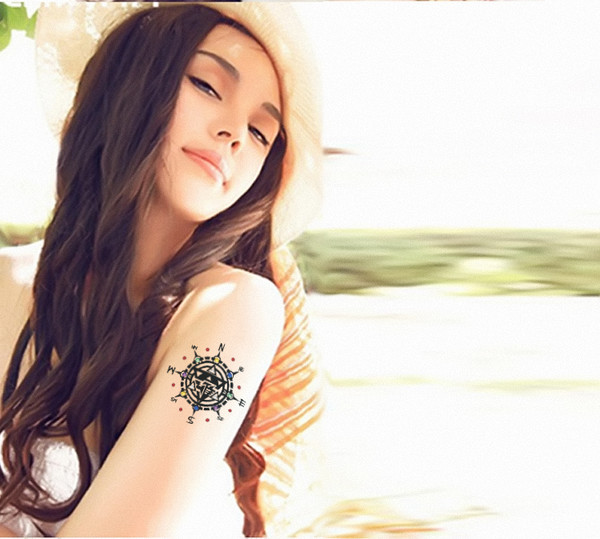 Ladies Gold And Silver Metallic Temporary Tattoo Sticker