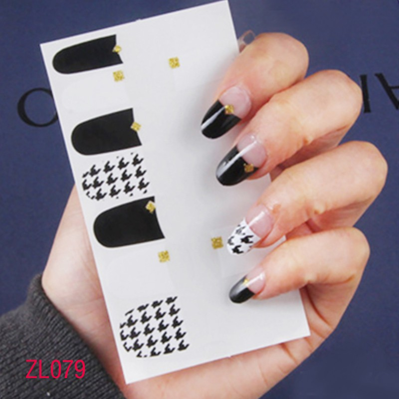 Hot sale Private Label mixed designs Gel Nail Polish Stickers