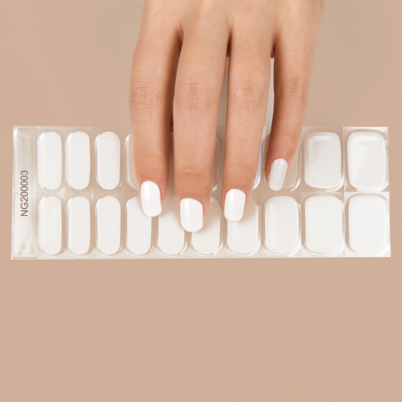 Shanghai Huizi hot sale nail sticker new design LED lamp gel nail sticker