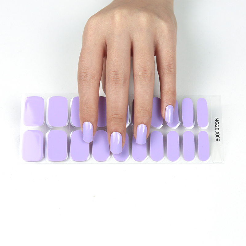Wholesale hot sale 2021 new styles nail gel stickers with UV lamp
