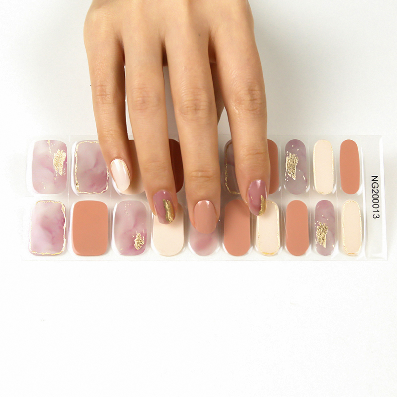 Korean style new gel nail sticker with UV lamp gel nail wraps