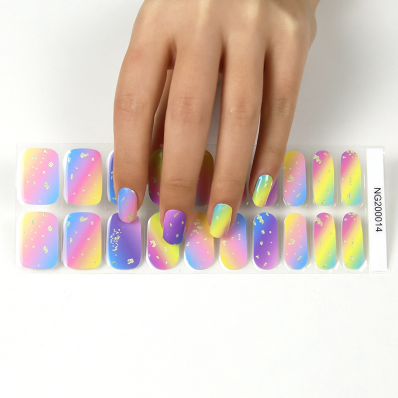 Wholesale new arrival custom logo nail stickers/wraps