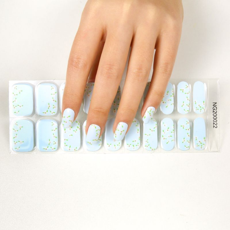 2021 new styles nail gel stickers with UV lamp