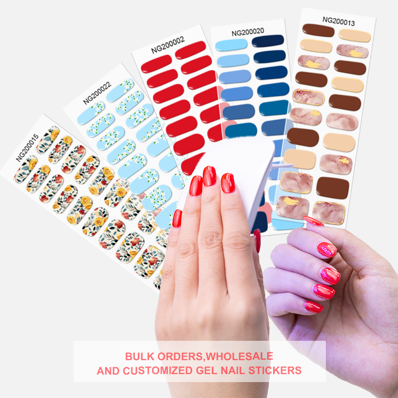 semi cured gel nail strips Shanghai huizi wholesale