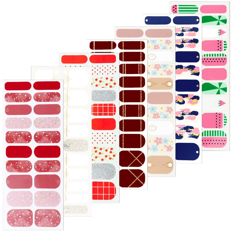 Wholesale Custom nail art decoration real nail polish nail strips